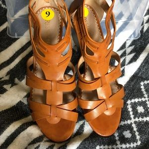 PRICE DROP! Restricted wedged sandals